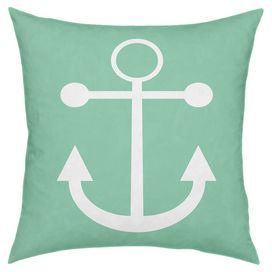 "Create a coastal-inspired retreat at home with this eye-catching essential, brimming with chic style and summer-ready flair.   Product: PillowConstruction Material: Cotton and down fillColor: SeafoamFeatures:  Will add the perfect pop of color to any roomMade in USAInsert included Dimensions: 18""  x 18"""