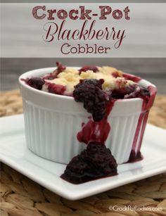 Crock-Pot Blackberry Cobbler - CrockPotLadies.com