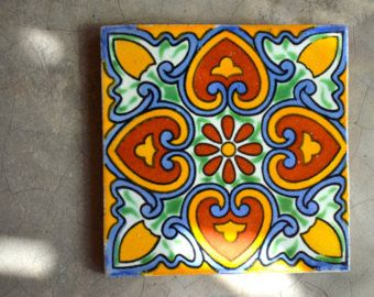 90 mexican talavera tiles hand made hand painted by Pintar azulejos a mano