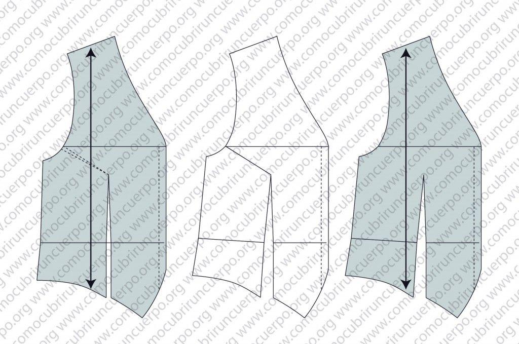 Patrón chaleco masculino o de hombre, trazado base | Costura | Pinterest