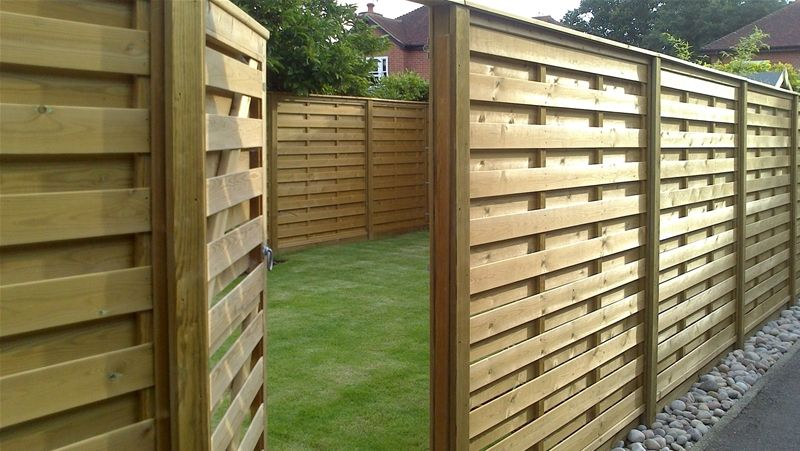 Horizontal Hit And Miss Fence Panels in 2020 Garden