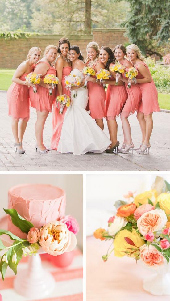 Coral And Yellow Wedding Ideas Yellow Wedding Colors Pink Yellow Weddings Yellow Wedding