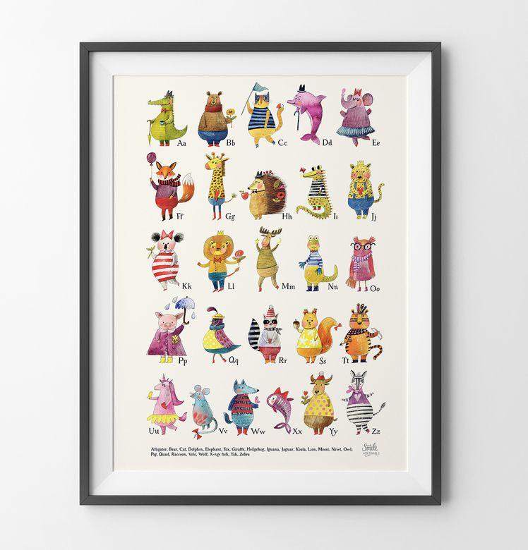 Самая лучшая азбука с животными на английском (с ...