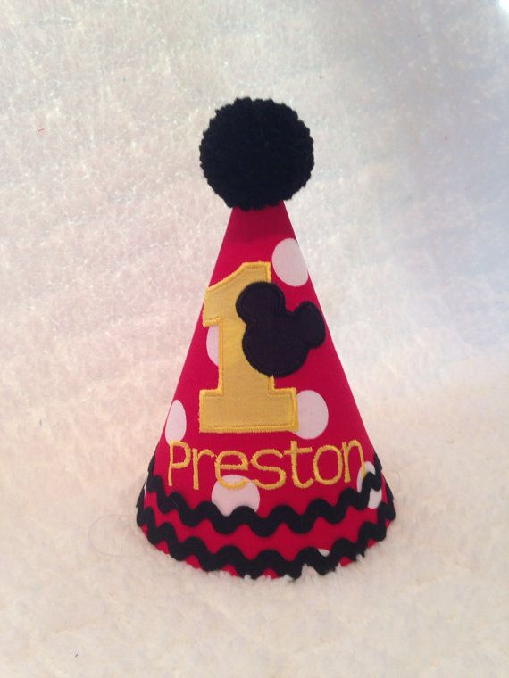 Embroidered Birthday Hat Mickey Mouse By SlickandBoogers On Etsy 1400