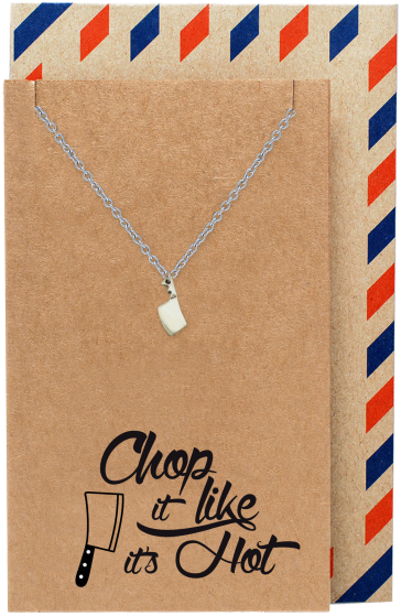 Ali Gifts for Mom, Dad, Chef, Cook Knife Necklace Funny Birthday Cards - Quan Jewelry