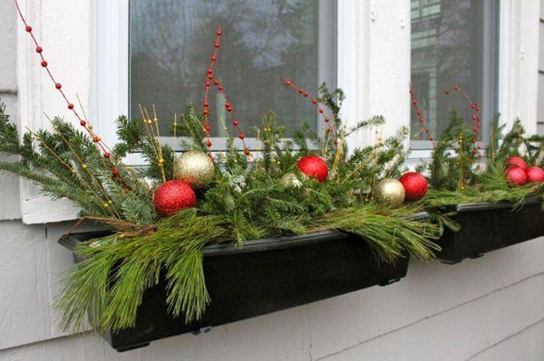 Decoracion navidad para ventanas exterior christmas - Decoracion navidena exterior ...