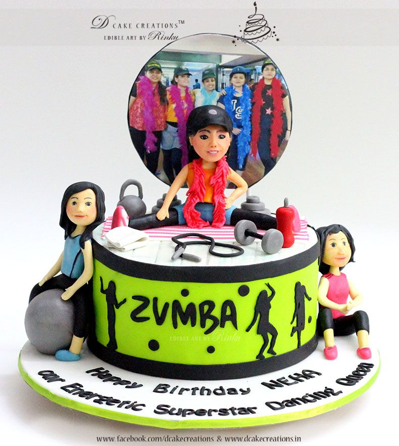 Zumba Cake Personalised Birthday Cakes For Adults Pinterest