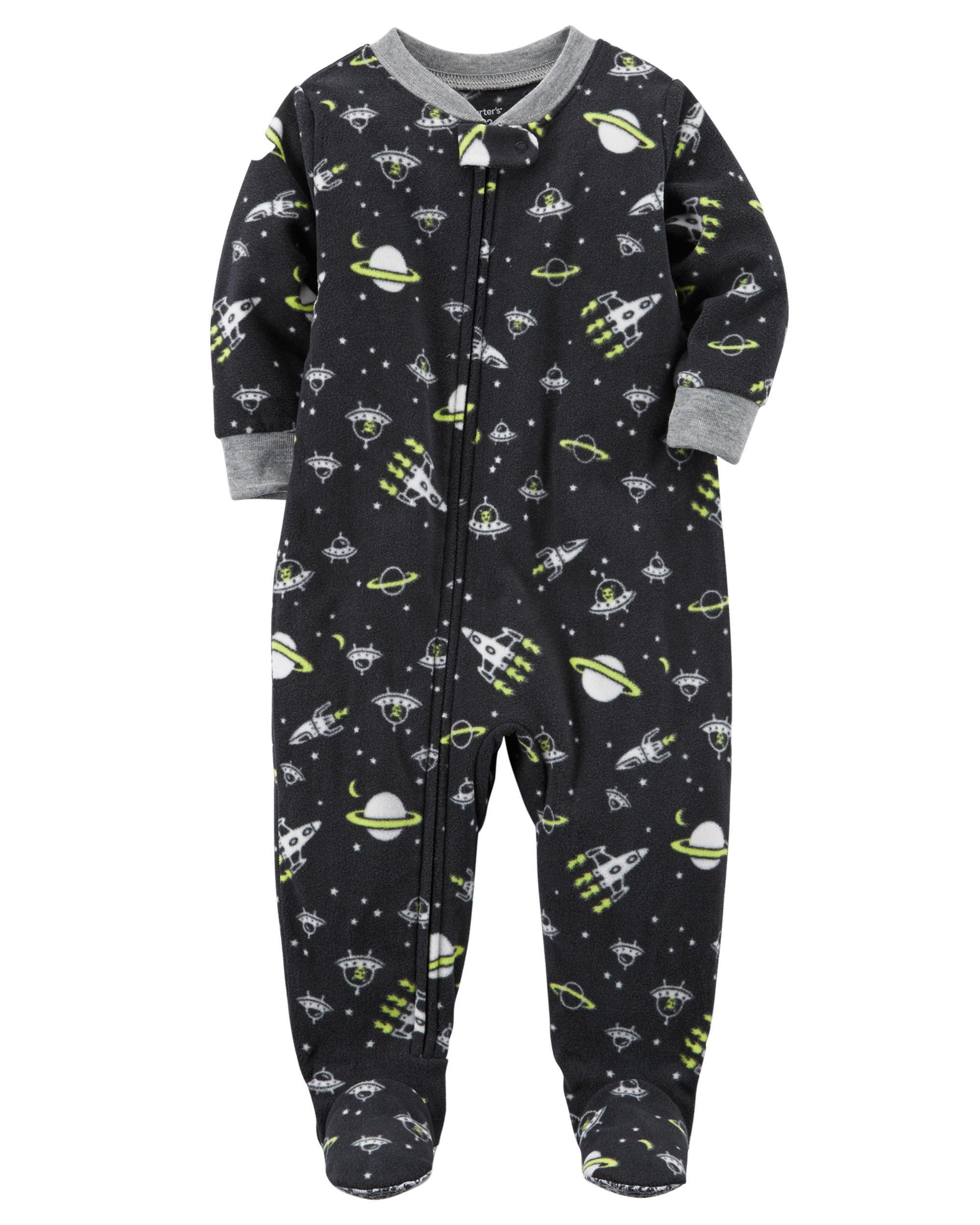755707d01e5b 1-Piece Space Fleece PJs