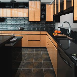 Kitchens With Black Floor Tiles 2012