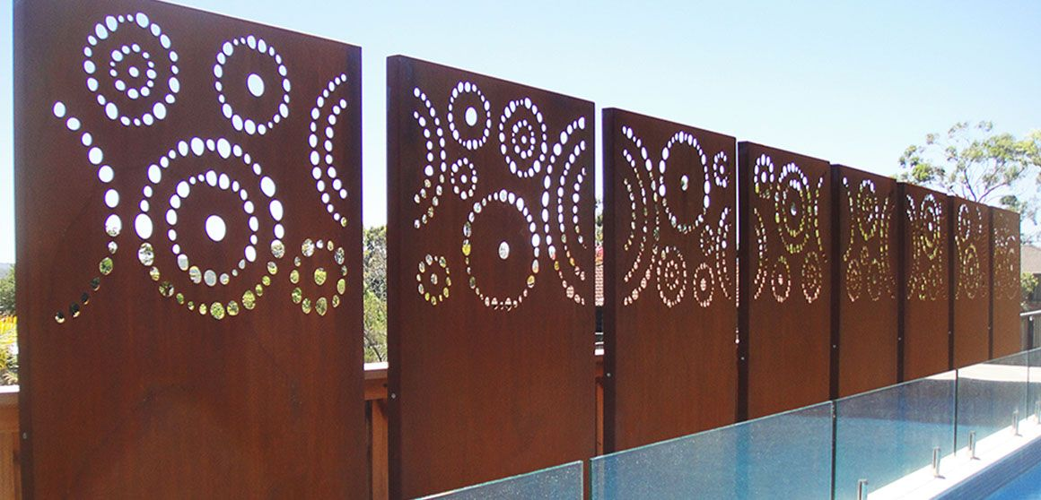 Plasma Cut Privacy Screen Cut Metal Screen Urban Design
