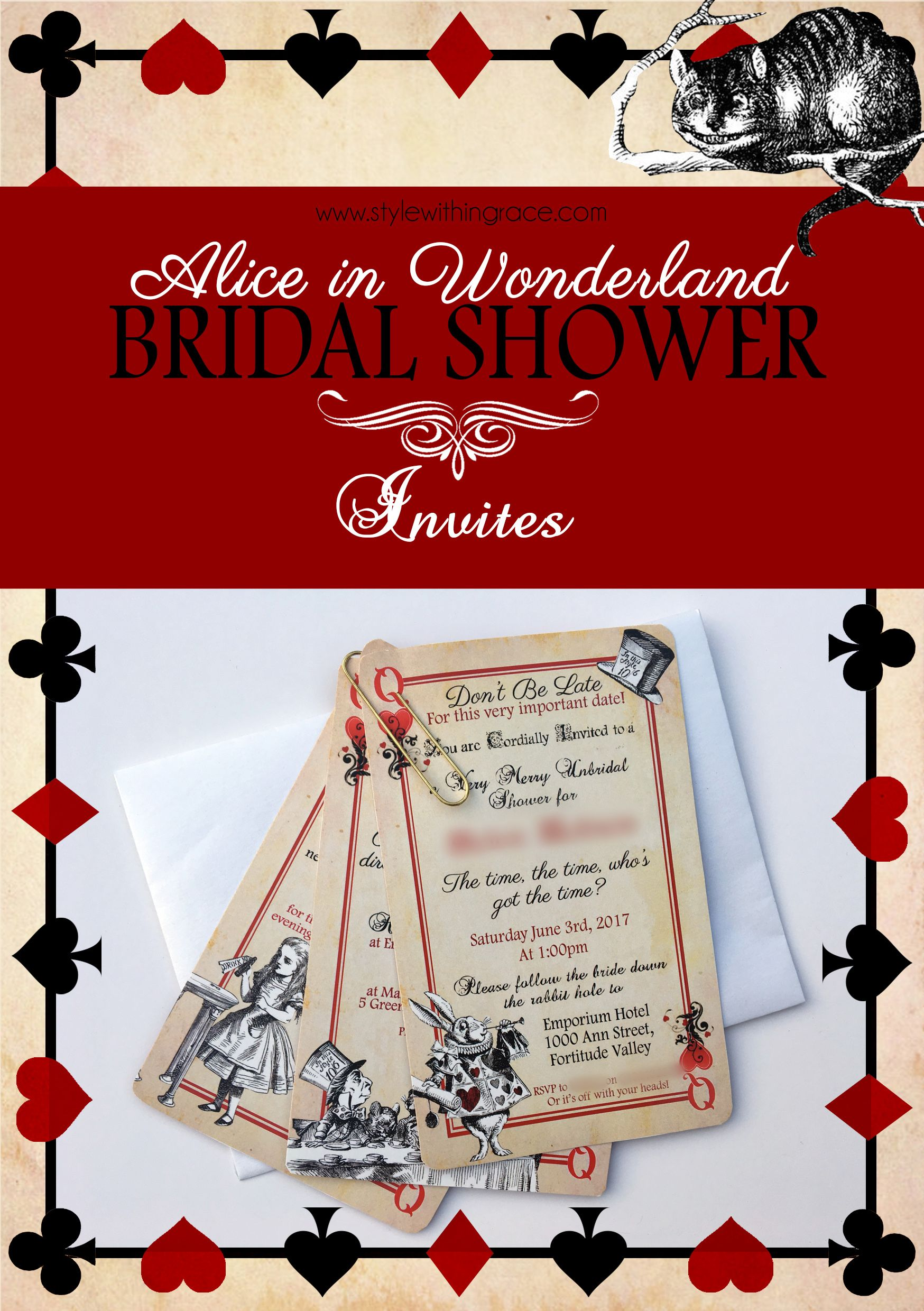 Old Fashioned Printable Couples Wedding Shower Invitations Ornament ...