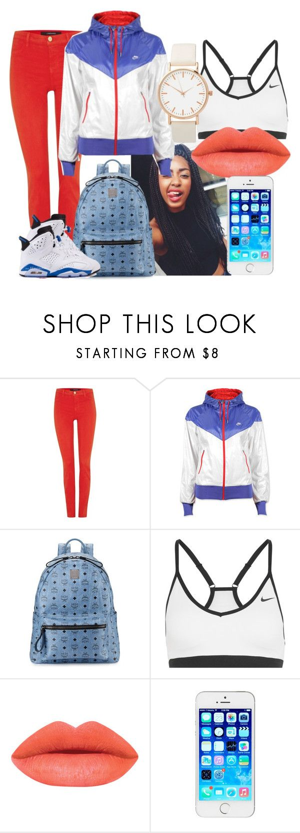 """""""."""" by bresafashionista on Polyvore featuring J Brand, Poetic Justice, NIKE, MCM, women's clothing, women's fashion, women, female, woman and misses"""