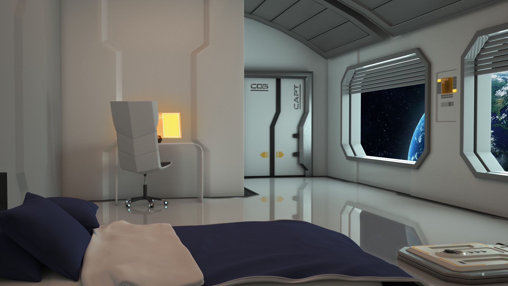Artstation Sci Fi Interior Eric Poulsen With Images