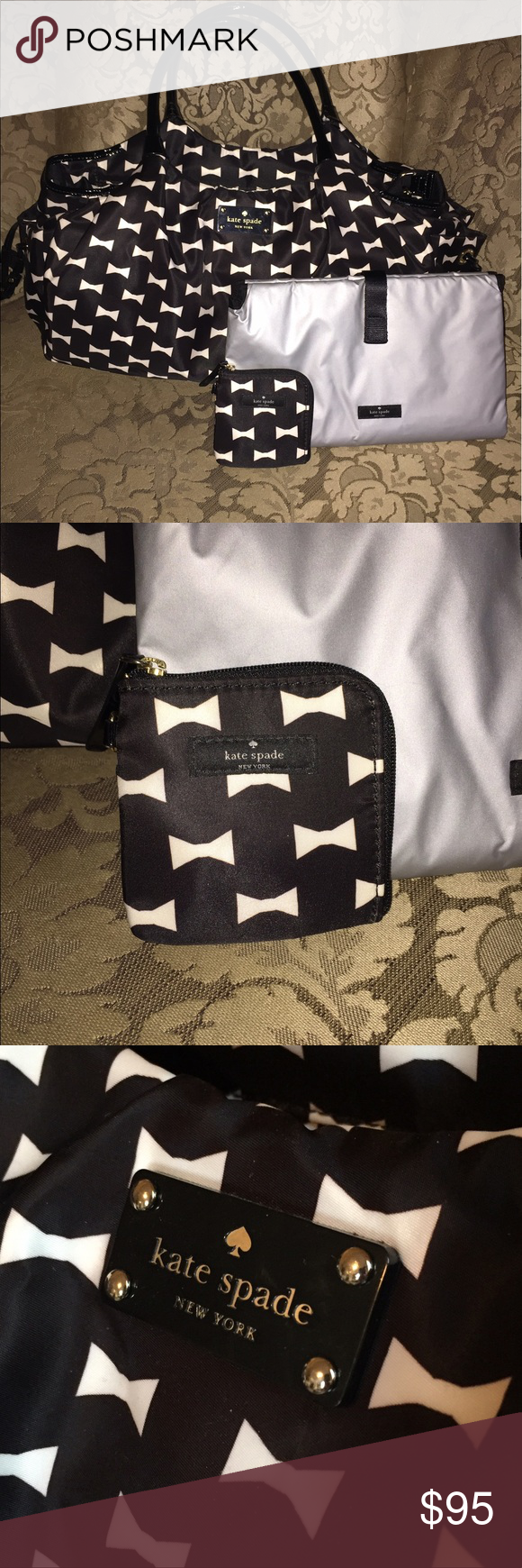 96fe1dd0ff3 KATE SPADE Stevie Diaper Bag Adorable bow tie print from Kate spade ...