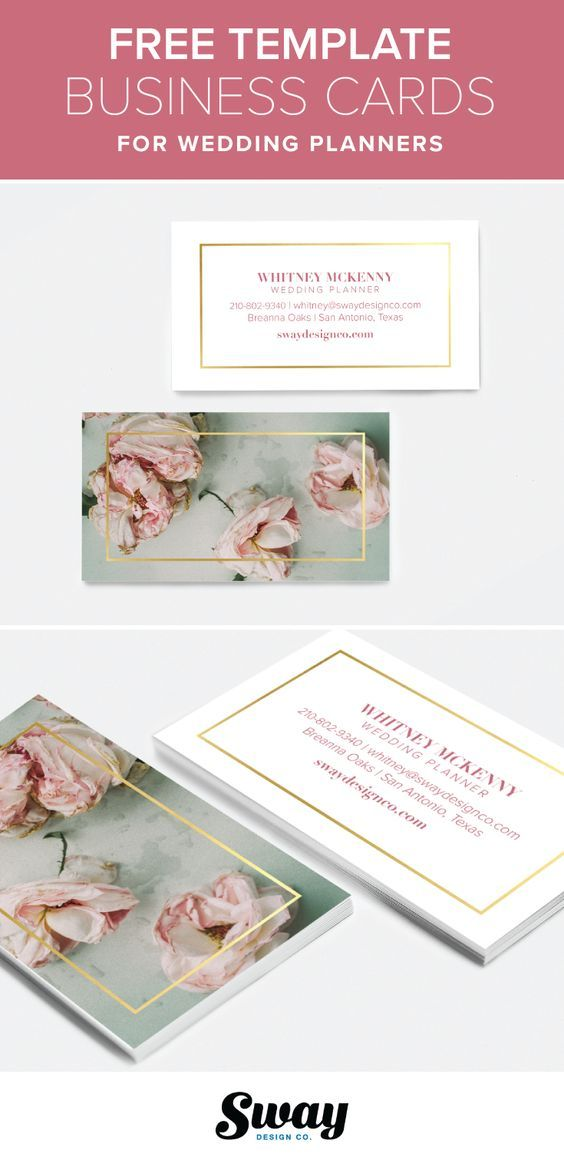 Free Printable Pink Floral And Gold Business Card Template For