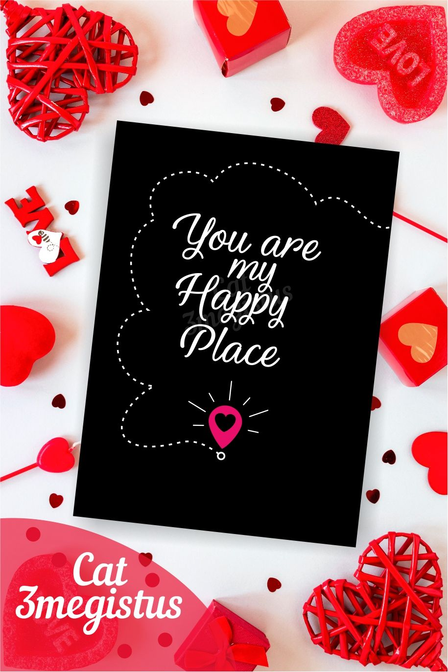 Digital Card Valentine/'s Day Love You Card Colorful Greeting Card