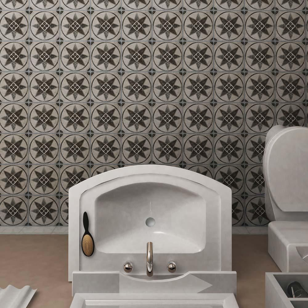 Tiles For Wall Decor Prepossessing Merola Tile Costa Cendra Decor Starflower 734 Inx 734 In Design Decoration