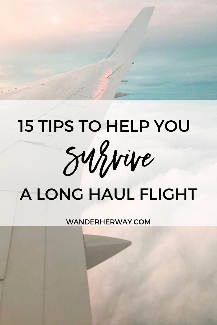 Tips for Long Haul Flights #travelfrases