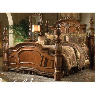 Michael Amini Villa Valencia Four Poster Bed King Size Bedroom Furniture Bedroom Sets Furniture King Bedroom Furniture Sets
