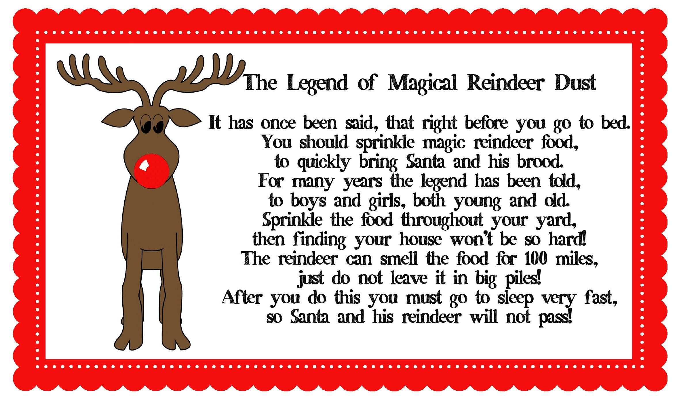 Magical Reindeer Dust Maybe The Elf Could Bring This On Christmas Eve As A Goodbye T To The