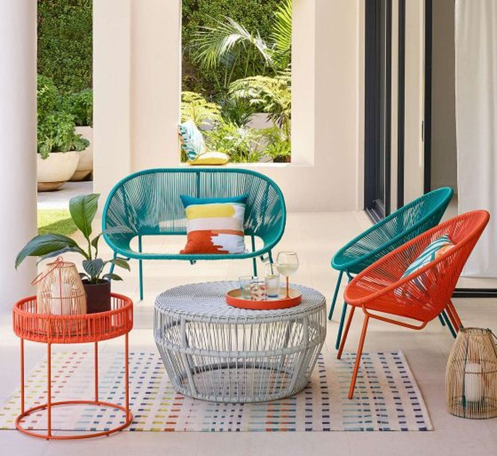 20 Comfy Outdoor Chair Furniture Design Ideas Trenduhome Contemporary Garden Furniture Modern Garden Furniture Colorful Outdoor Furniture
