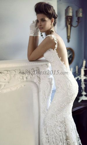 lace wedding dress, love the idea, not the gloves.