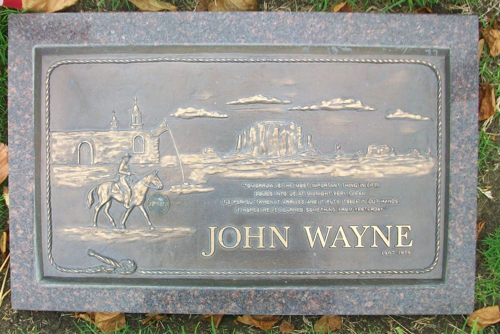 John Wayne Gravesite Famous Actor Of Mostly Westerns Inscription