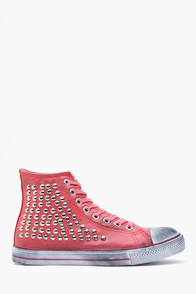 7a9cf5915da5df Hot stud sneakers in pink