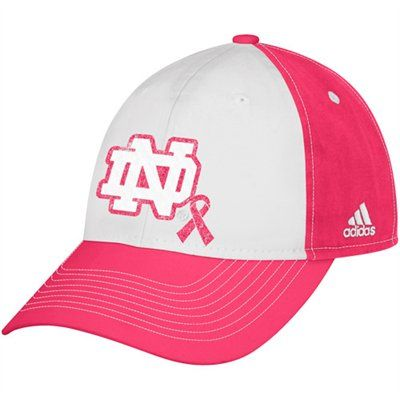 28bc52d6d adidas Notre Dame Fighting Irish Ladies Breast Cancer Awareness Slouch  Adjustable Hat - White Pink