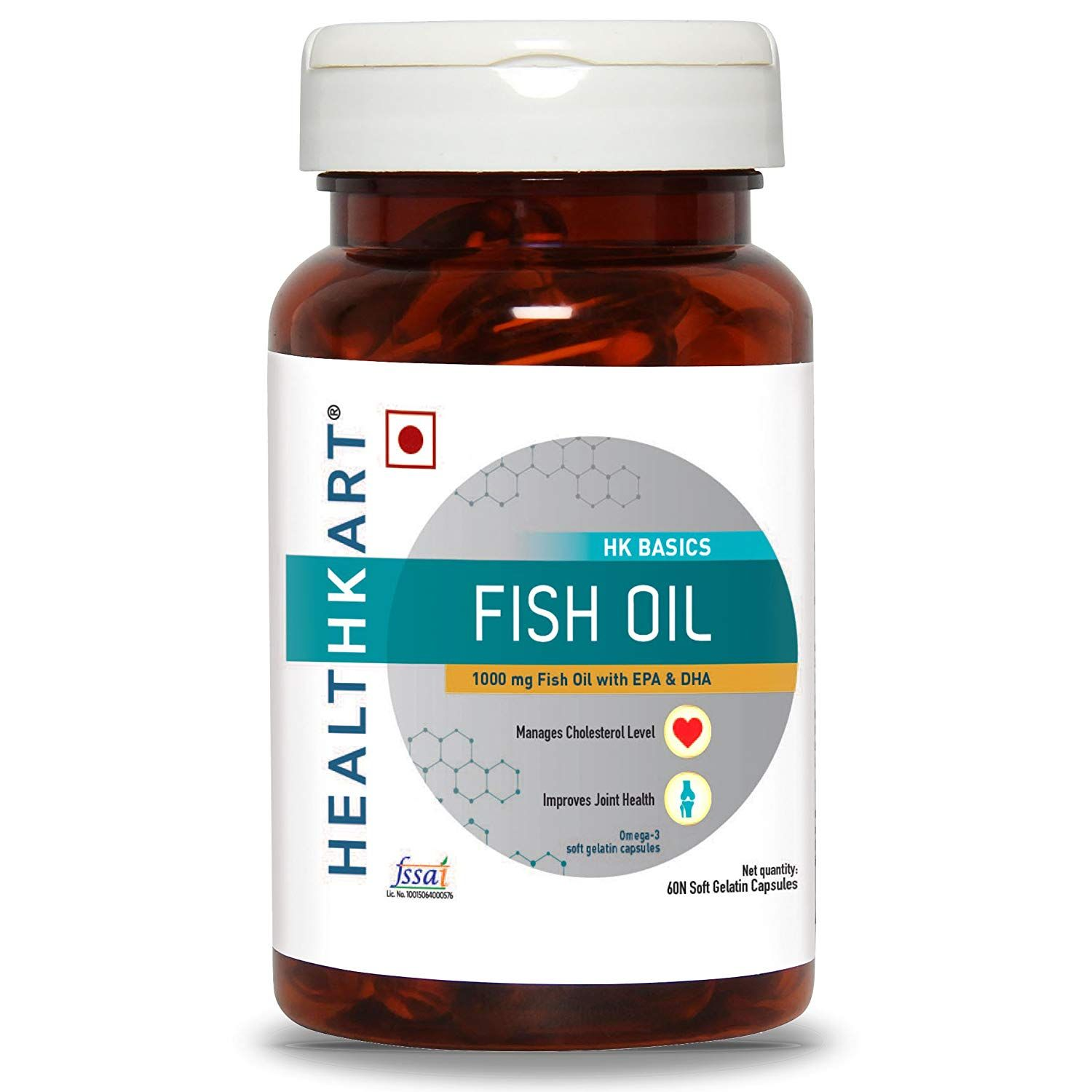 Healthkart Fish Oil 1000 Omega 3 With 180 Mg Epa 120 Mg Dha 60 Softgels Amazon In Health Personal Care Fish Oil Fish Oil Dosage Fish Oil Pills