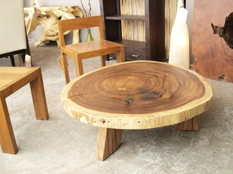 Wood Circle Coffee Table