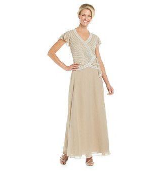 J Kara Beaded Top With Tie Gown Social Dresses Dresses Prom Dresses