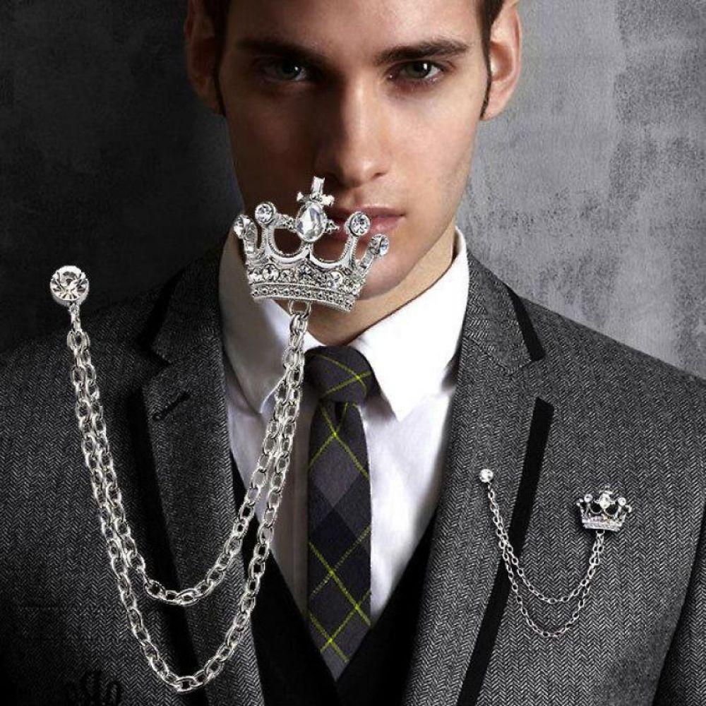 Femmes strass cristal Pic Broche Pin shirt vêtements accessoires