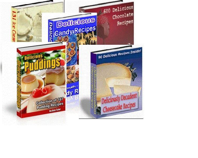 5 eBook PDF Recipes 988 Desserts Pudding Candy Chocolate ...