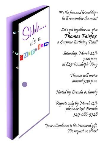 find most creative surprise adult birthday party invitations online