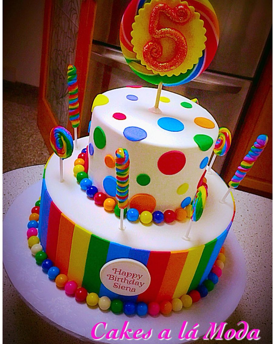 Candy Themed Birthday Cake For 5 Year Old Kids Cakes Pinterest