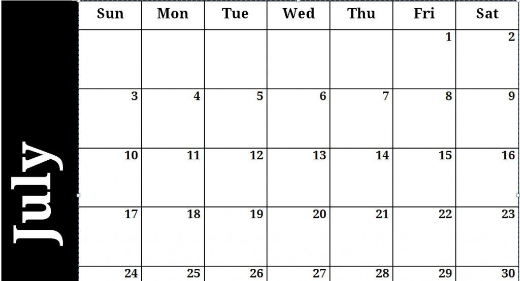 Free Monthly Calendar Templates For Excel  Project Management