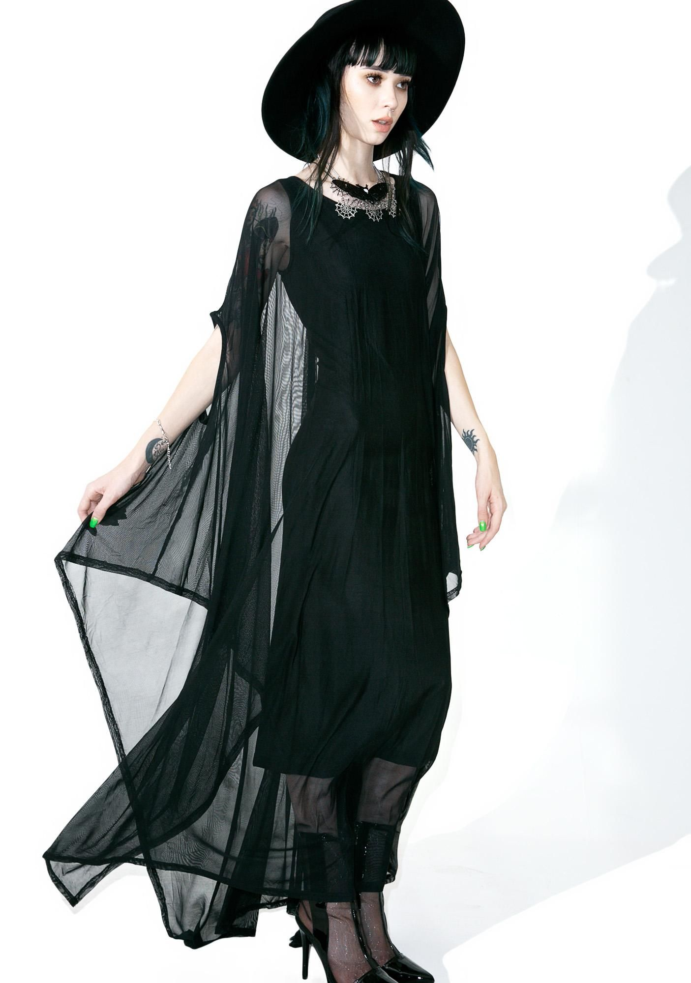 Mystic Hannah Hell Mesh Maxi | Mystic, Gothic and Clothes