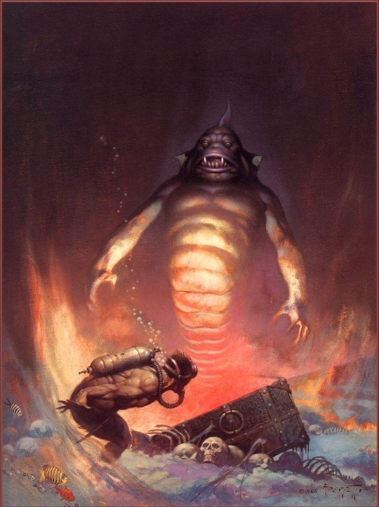 Frank Frazetta - Sea Monster | Fantasy Art I | Pinterest ...