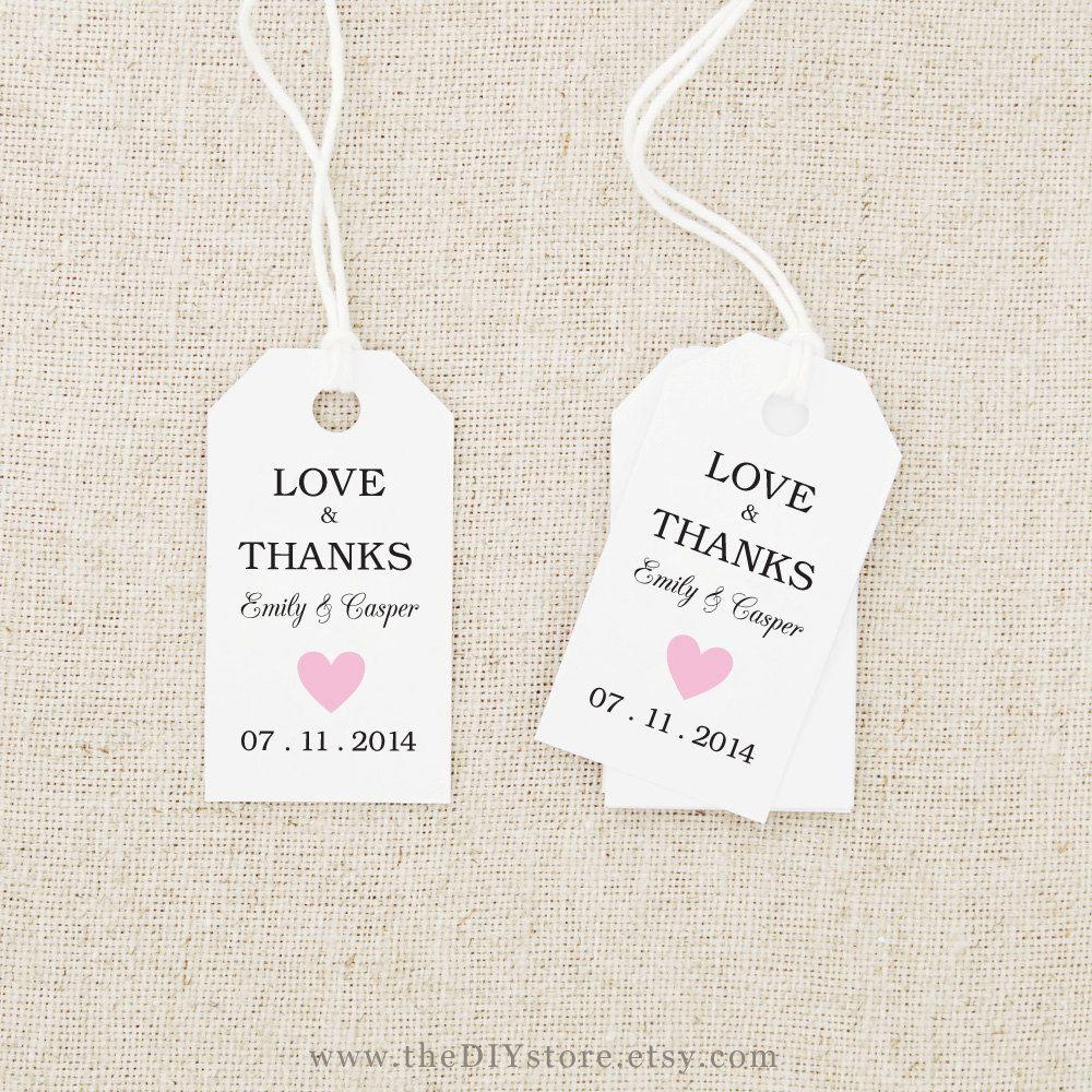 Freeprintableweddinggifttagstemplates Wedding Pinterest