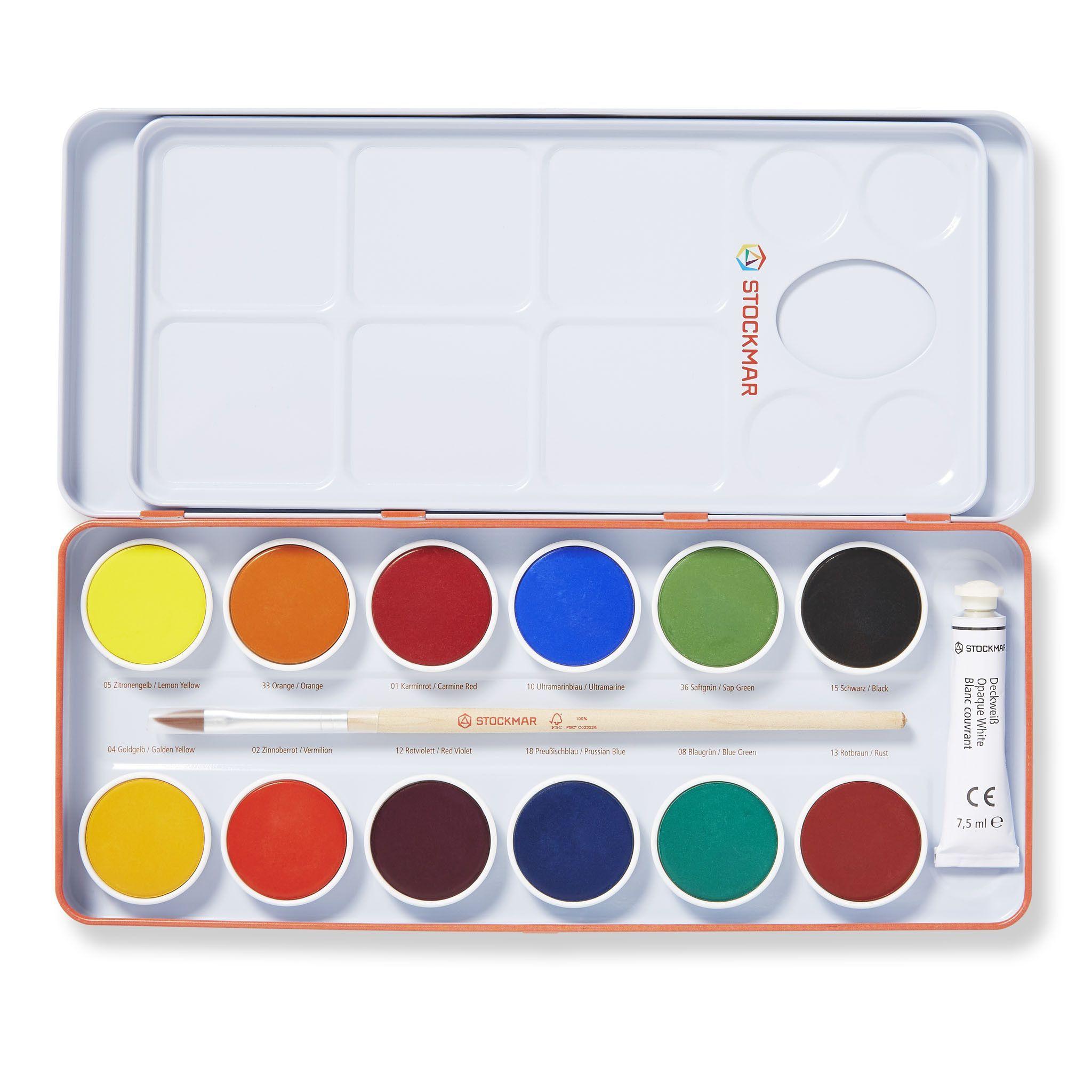 Stockmar Opaque Water Colours Watercolor Paints Painted Boxes
