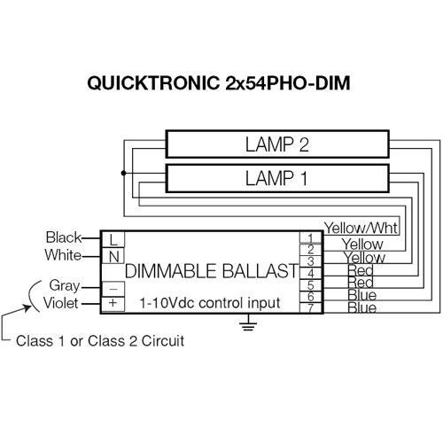 Osram Sylvania 54w 277v T5 Dimmable Quicktronic Series Fluorescent Ballast Products And Vs: Osram Ballast Wiring Diagram 120 Volt At Goccuoi.net
