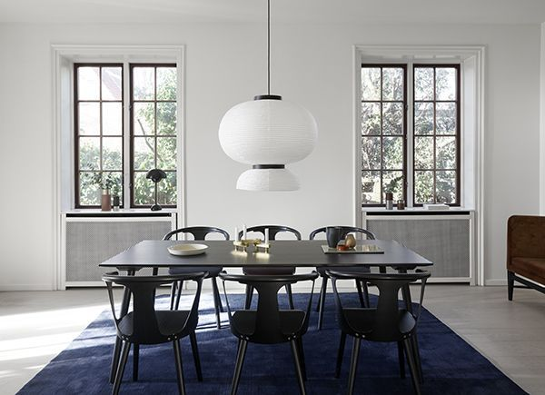 edgy furniture neo black and edgy furniture for the dinning room in between table chairs in black stained oak by sami kallio formakami pendant jaime hayon