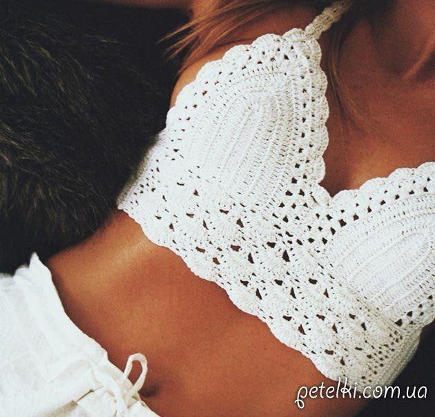 a2b3e018b1b7d Красивый вязаный купальник. Схемы   Crochet joven   Вязание крючком ...