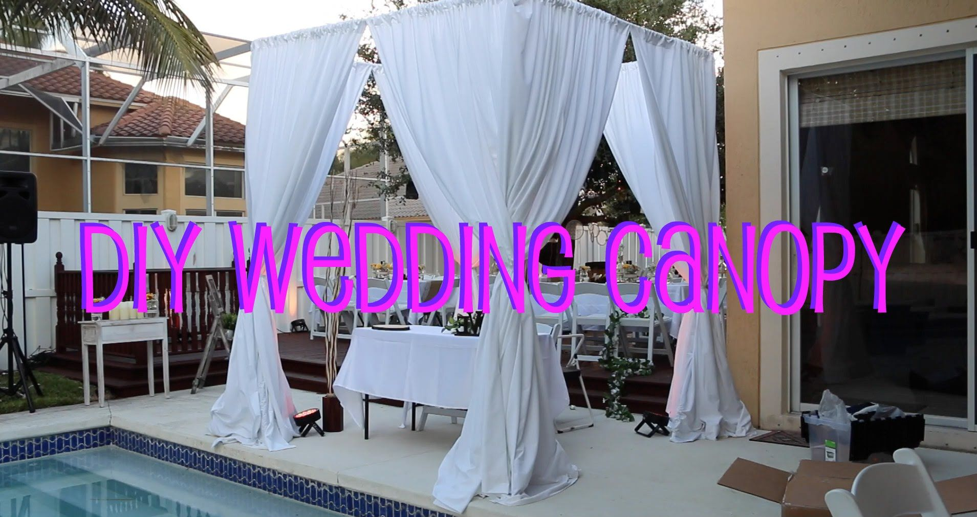 Learn how to setup do it yourself wedding canopy in 3 easy steps learn how to setup do it yourself wedding canopy in 3 easy steps solutioingenieria Choice Image
