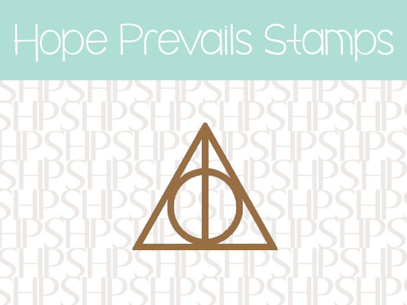 Deathly Hallows Symbol Horcrux Always Harry Potter Rubber Stamp By
