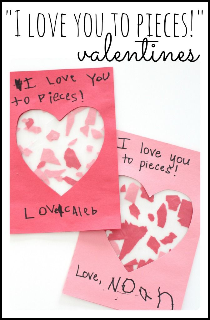 I Love You to Pieces Valentines  Craft Valentine crafts and