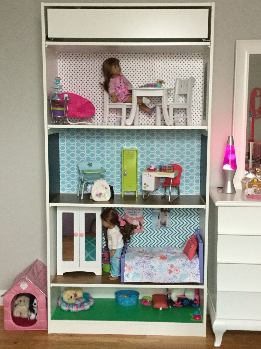 dolls house furniture ikea. American Girl Dollhouse Made From IKEA Pax Closet System And Contact Paper Dolls House Furniture Ikea