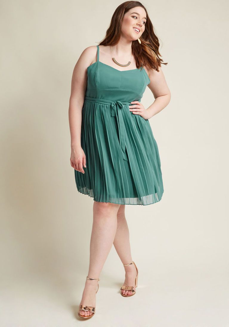 Posh Prompting A-Line Dress in Sage
