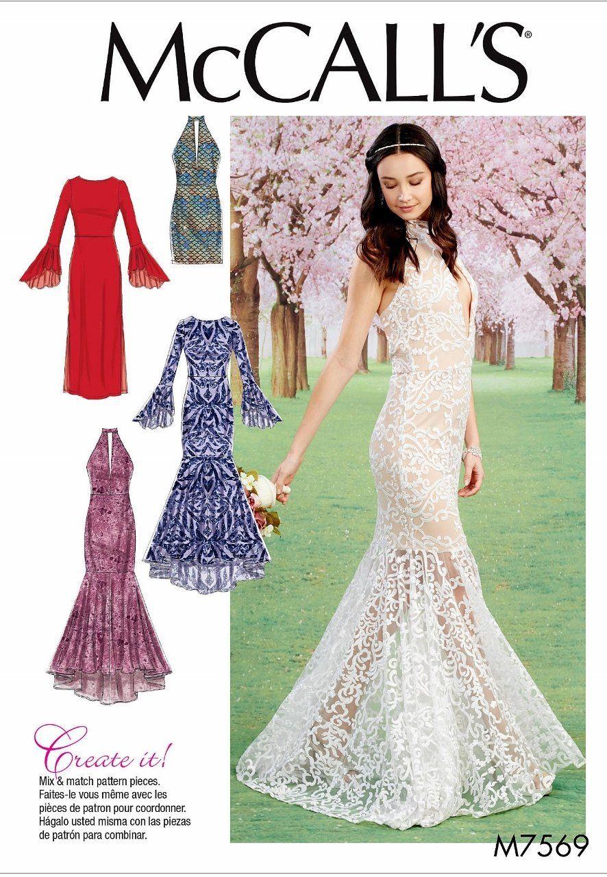 Sewing Pattern Formal Gown Pattern, Mermaid Gown Pattern